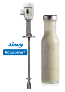 Rotosolver mixer for dressings processing