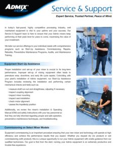 Admix Service Brochure